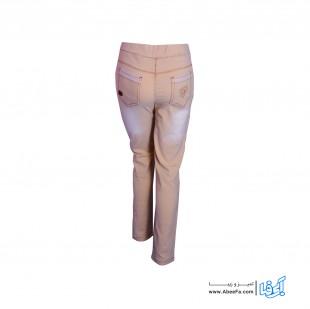 شلوار جین زنانه مدل NJ-MB82040-TLI-K رنگ کرم