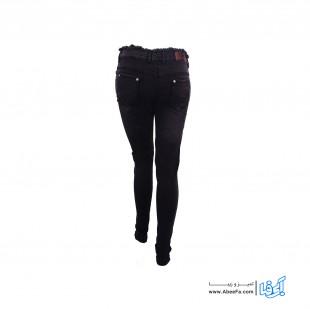 شلوار جین زنانه مدل NJ-MB82040-TLI-ZO رنگ ذغالی