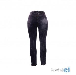 شلوار جین زنانه مدل NJ-MB82040-TLI-Z.B رنگ زغالی