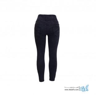 شلوار جین زنانه مدل RZ-GH12068-TLI-ZO.GEN رنگ زغالی
