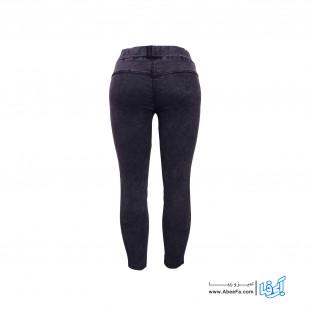 شلوار جین زنانه مدل RZ-GH12055-TLI-Z رنگ ذغالی