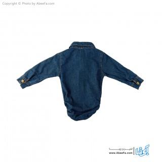 پیراهن جین زیر دکمه دار بچگانه مدل NGN1127-A
