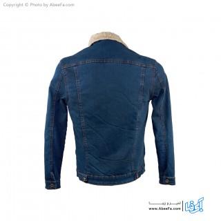 کت جین مردانه داخل خز مدل LE32A آبی