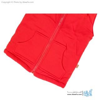 پافر جلیقه ای دورو بچگانه مدل NGN19R قرمز-مشکی