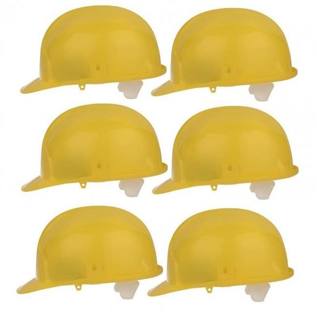 کلاه ایمنی ۶ عددی تک پلاست رنگ زرد مدل 0086 ClassG