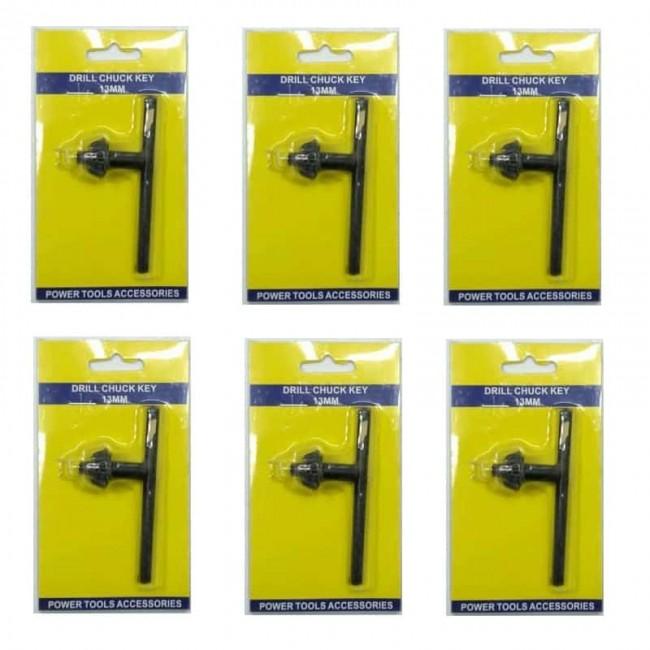 آچار سه نظام دریل سایز ۱۳ بسته ۶ عددی OBAD-001