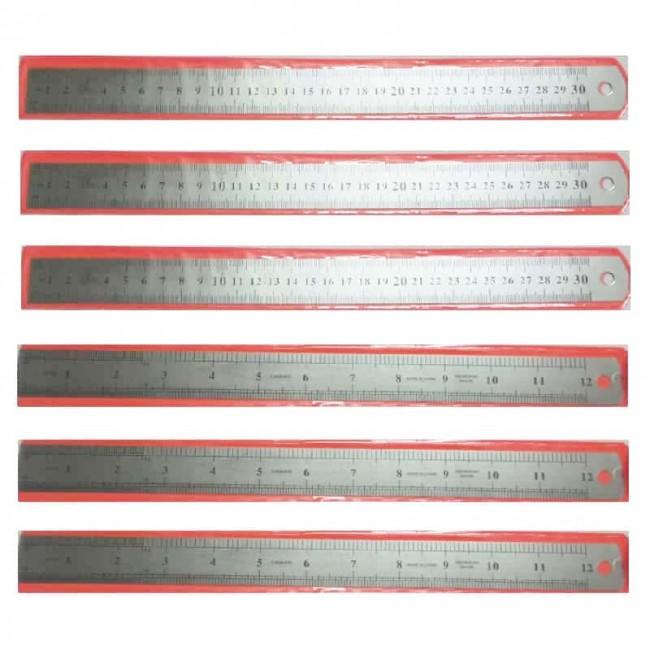 خط کش فلزی ۳۰ سانتی متری شمشیر ماهی ۶ عددی OOKK-002