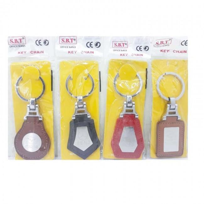سر کلیدی چرم آرم خودرو پلاک دار جینی ۱۲ عددی OHSK-003