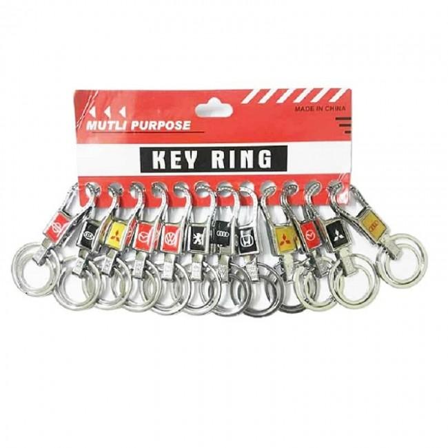 سر کلیدی ۲ حلقه آرم خودرو چهار گوش جینی ۱۲ عددی OHSK-002