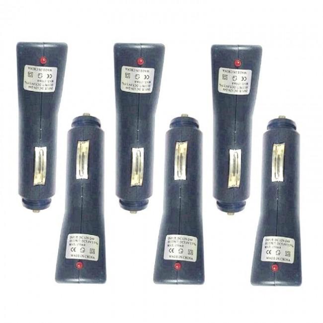 اتصال شارژر فندکی خودرو ۶ عددی OHFK-001