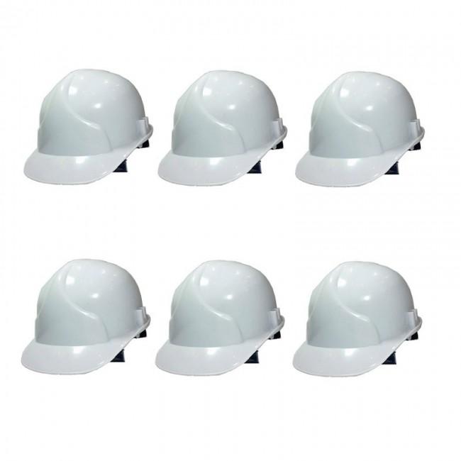 کلاه ایمنی ۶ عددی طرح JSP رنگ سفید OIKI-001