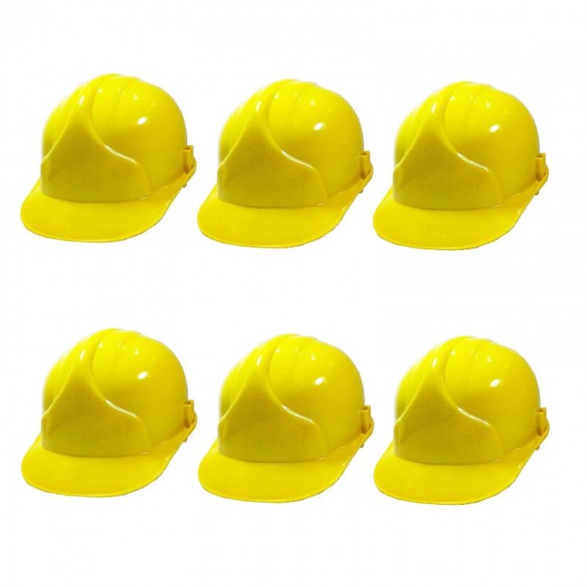 کلاه ایمنی ۶ عددی طرح JSP رنگ زرد OIKI-002