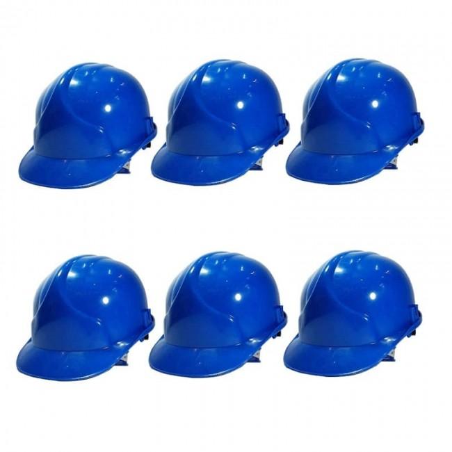 کلاه ایمنی ۶ عددی طرح JSP رنگ آبی OIKI-003
