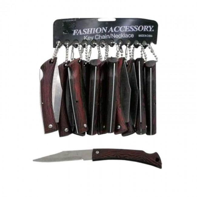 چاقو طرح چوب پشت ضامن ۱۷ سانت ۱۲ عددی OHSK-016