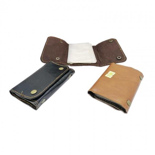 کیف و جلد عابر بانک ۱۲ برگ دکمه دار طرح چرم HKF-003