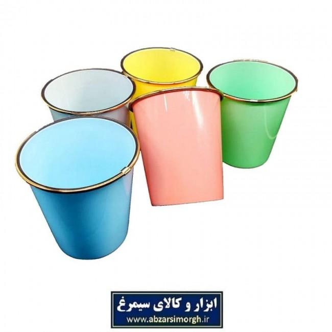 سطل پلاستیکی لبه طلایی رنگی PST-001