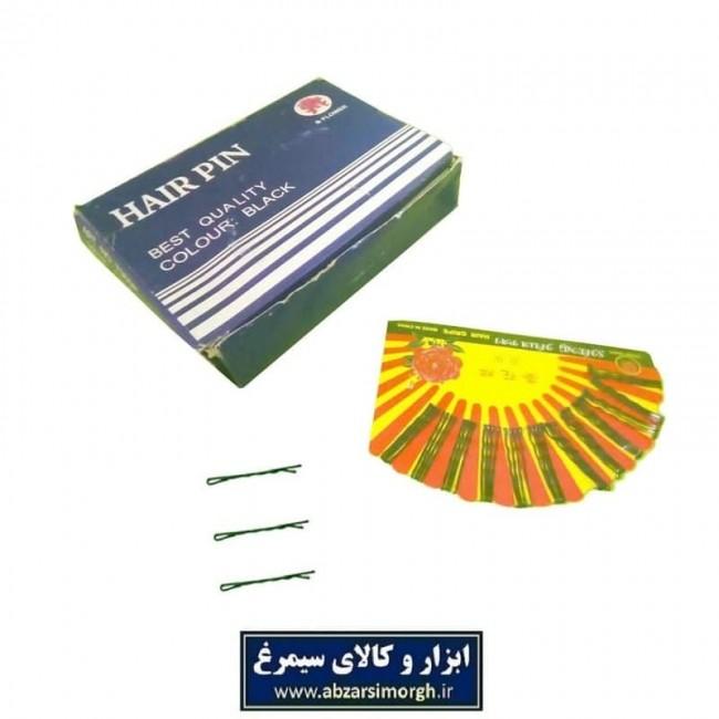 سنجاق مو ساده مشکی سایز کوچک طول ۴.۳ سانت و کارت ۴۸ عددی HSM-002