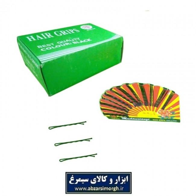 سنجاق مو ساده مشکی سایز بزرگ طول ۵.۵ سانت و کارت ۴۸ عددی HSM-001