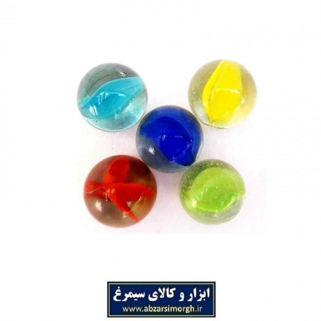 تیله شیشه ای اسباب بازی سایز متوسط بسته 10 عددی TTI-001