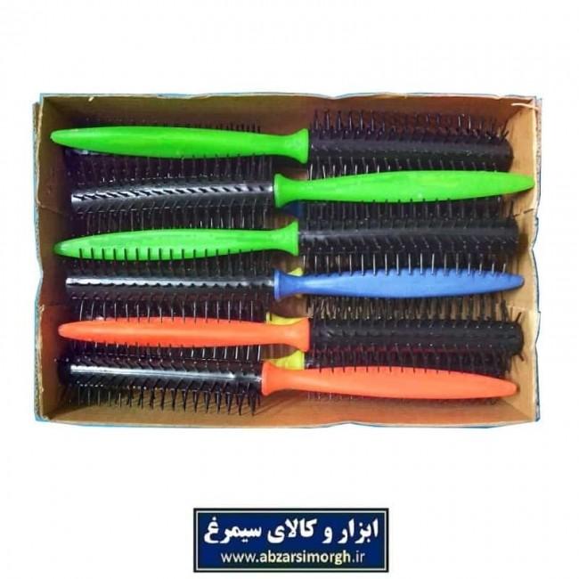 برس مو پیچ دسته رنگی پلاستیکی ZBS-007