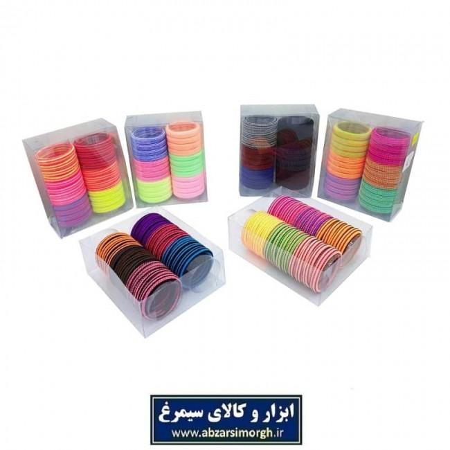 کش مو راه راه رنگی بسته وکیوم ۲۴ عددی ZKM-002