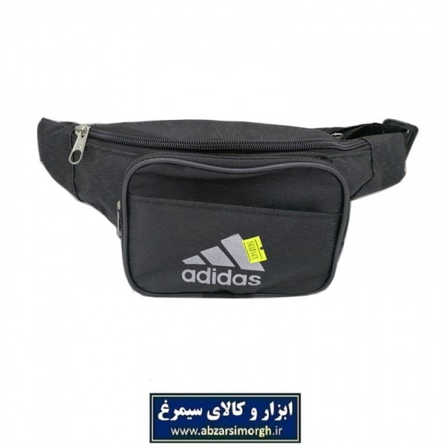 کیف کمری برزنتی ۳ زیپ مشکی جیب دار Adidas آدیداس CKF-006