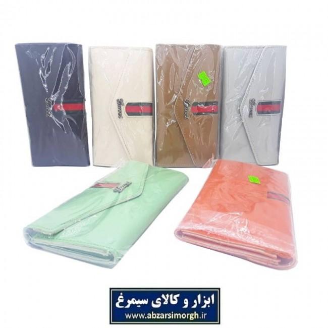 کیف زنانه دکمه مخفی پرچمی HKF-007