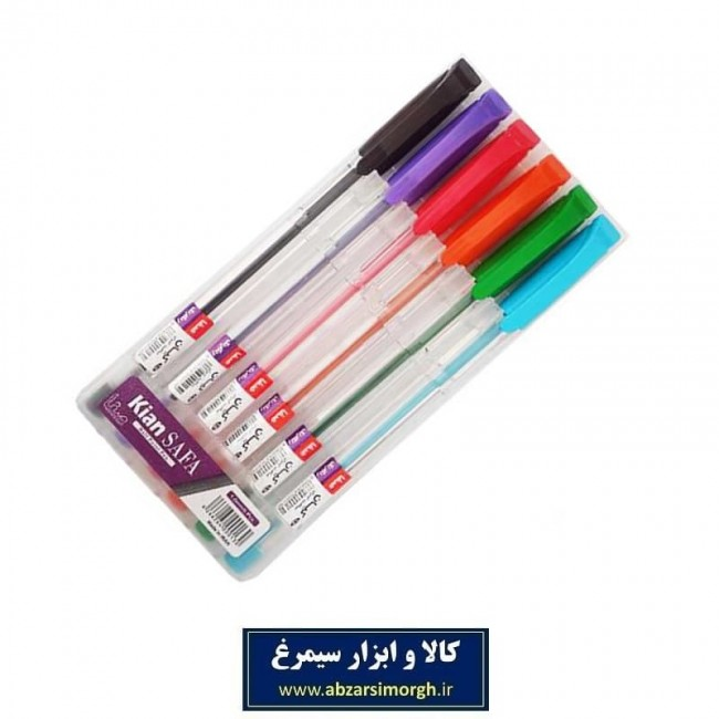خودکار کیان صفا Kian Safa بسته ۶ عددی رنگی