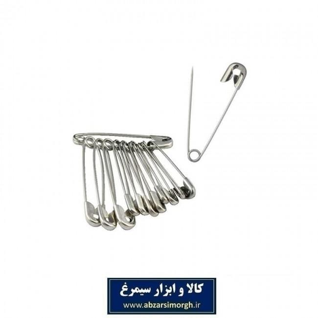 سنجاق قفلی سایز ۲ بسته ۱۲ عددی HSJ-001