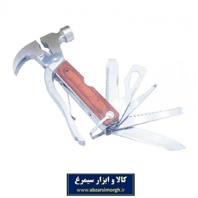 ست ابزار چند کاره - ابزار کمپینگ چکش ۱۷ کاره HAC-001