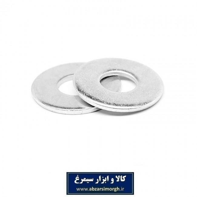 واشر تخت فلزی شماره ۲۴×۸ دور پهن SIT بسته ۲۰ عددی SWF-004