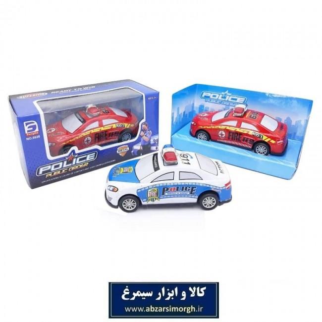 ماشین اسباب بازی عقب کش فلزی پلیس Police Public Order جعبه دار ۱۰ سانت TMT-009
