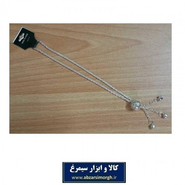 گردنبند توپی نقره ای بسته بندی سلفونی ZBD-007