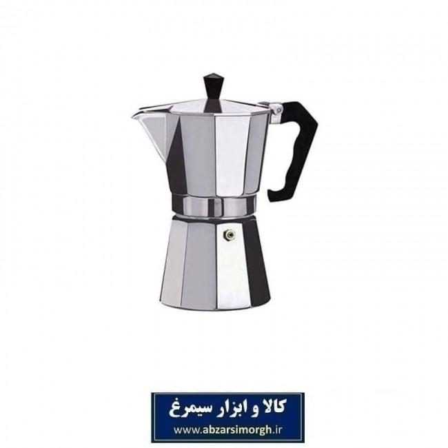 موکاپات یا قهوه جوش و اسپرسوساز روگازی آلومینیوم ۲ کاپ HGJ-001