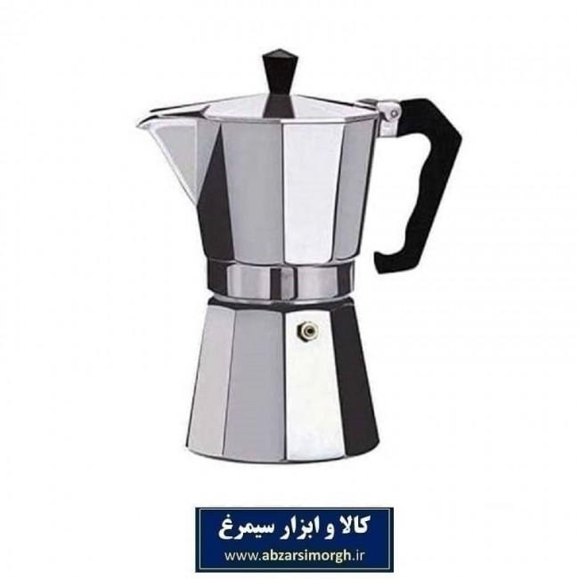 موکاپات یا قهوه جوش اسپرسو ساز دستی آلومینیوم ۹ کاپ