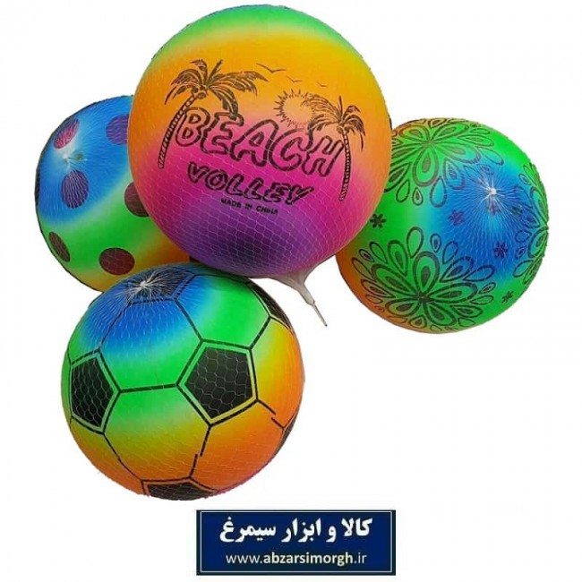 توپ بادی با طرح فوتبال، ساحلی و شخصیت کارتونی TTP-001