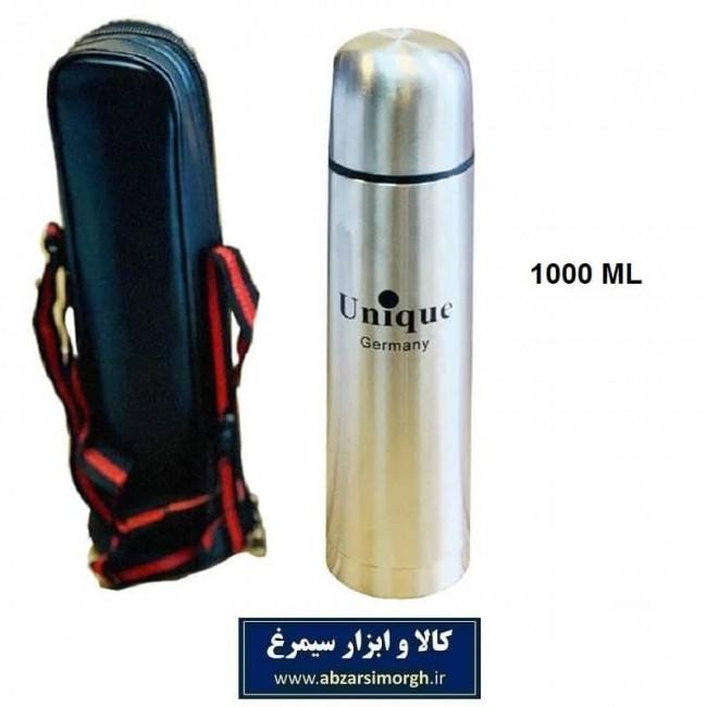 فلاسک یونیک Unique قلمی استیل ۱ لیتری کاور دار HFL-001