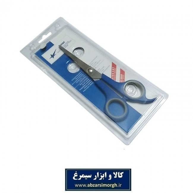 قیچی آرایشی کات تک دم Savoy ساووی ۱۸ سانت آبی HGC-002-4