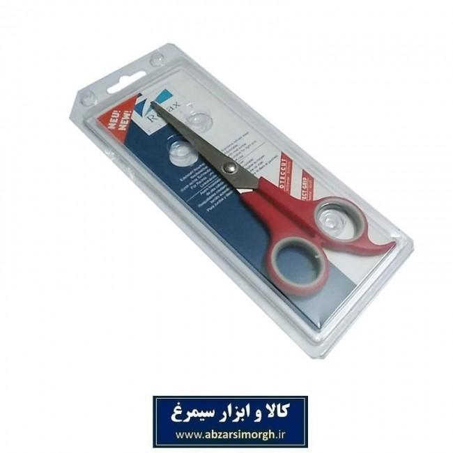 قیچی آرایشی کات تک دم Relax ریلکس ۱۸ سانت قرمز HGC-012-1