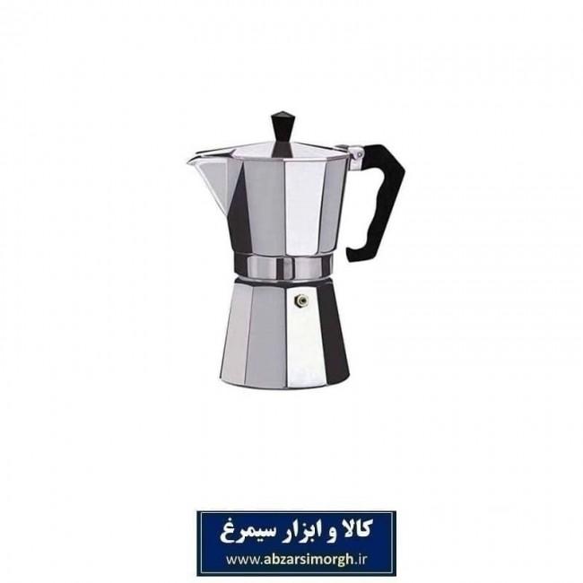 موکاپات یا قهوه جوش و اسپرسوساز رو گازی آلومینیوم ۱ کاپ HGJ-005