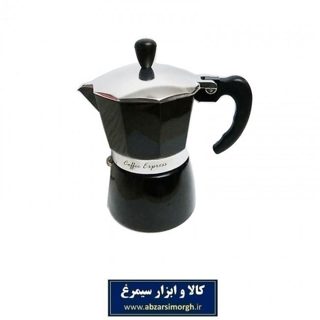 موکاپات قهوه ساز کمر نقره ای ۳ کاپ مشکی HGJ-008