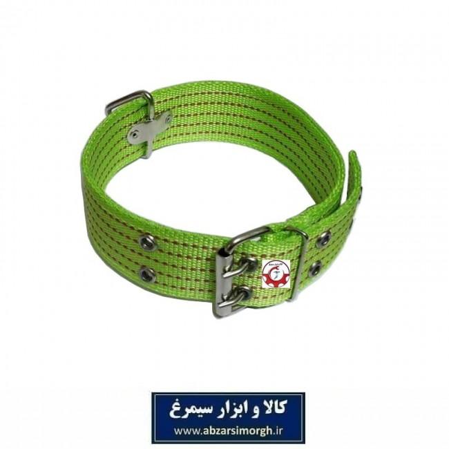 قلاده گردنی سگ برزنتی بزرگ و پهن رنگ سبز HPS-009A