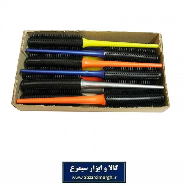 برس مو پلاستیکی گرد با دسته رنگی و سوزن کوتاه ZBS-023