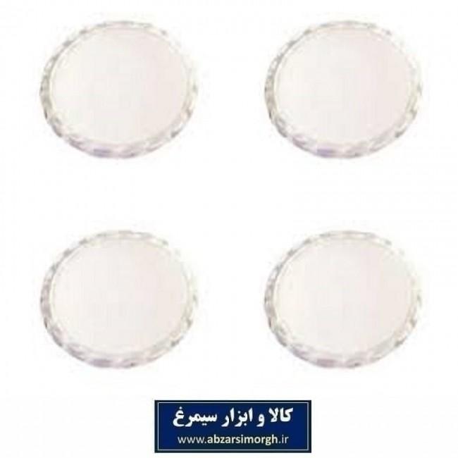 پد زیر پایه مبل پلاستیک شفاف و نشکن ۴ و ۲۴ عددی HFM-008