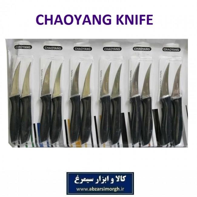 چاقو آشپزخانه لیزری منحنی Chaoyang چائویانگ مشکی فروش تک و جین HCG-020