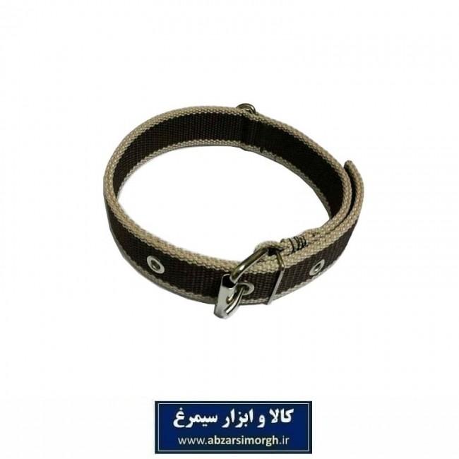 قلاده گردنی سگ برزنتی ۲ لایه عرض ۳ سانت رنگ قهوه ای HPS-023A