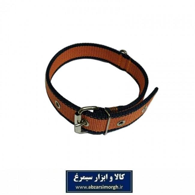 قلاده گردنی سگ برزنتی ۲ لایه عرض ۳ سانت رنگ نارنجی HPS-023C