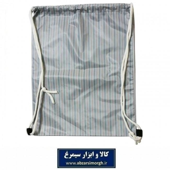 کوله پشتی ورزشی شوزبگ طرح دار مدل D پارچه پلاستیکی ظریف VKF-007