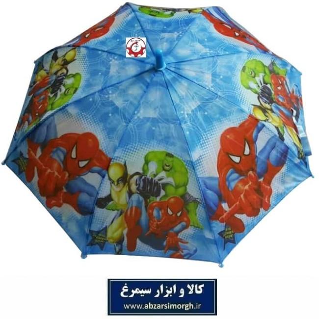 چتر پسرانه مرد عنکبوتی Spider Man فنر مشکی HCH-016