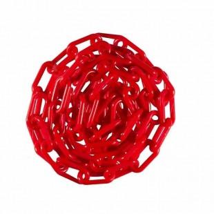 زنجیر پلاستیکی راه بند قرمز رنگ ۱۰۰ متری OIZP-001
